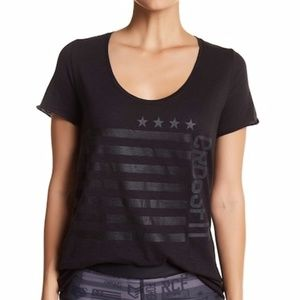 NWT Reebok Graphic Print Flag Crossfit T-shirt S